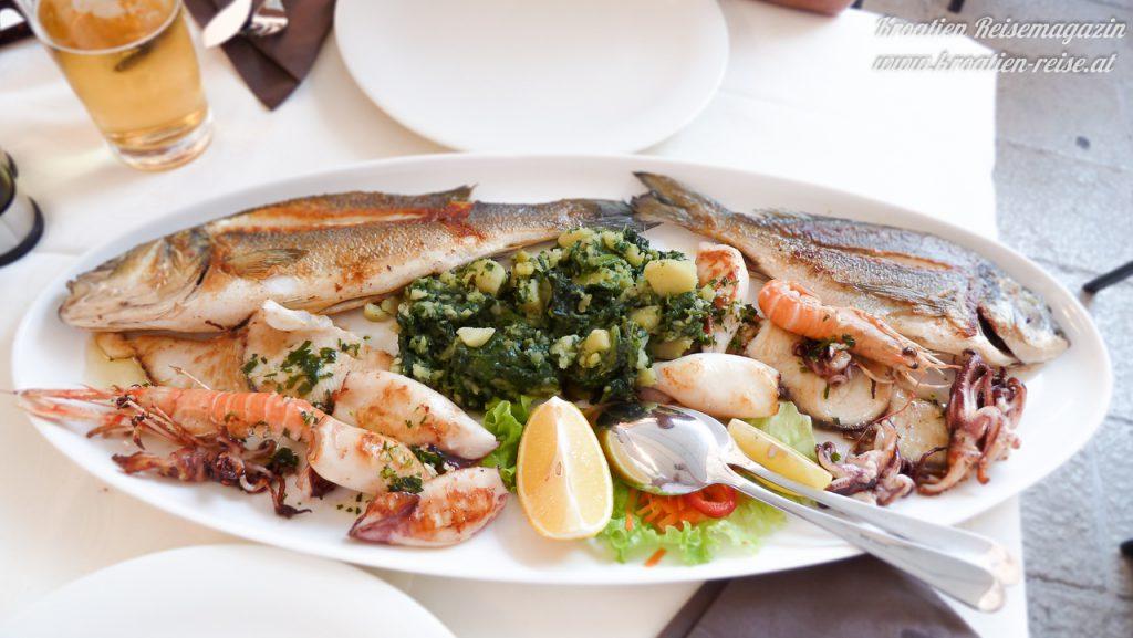 fisch meeresfrüchte platte kroatien