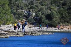 Skraping Trekking Rennen Insel Pasman