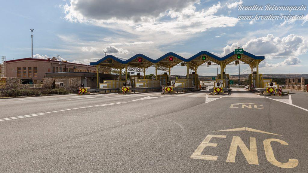 Mautstelle Autobahn Kroatien