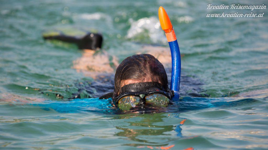 Schnorcheln im Meer