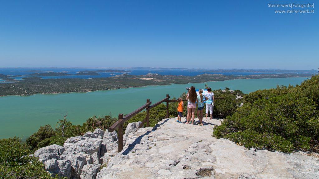 Kroatien Insel Blick Foto