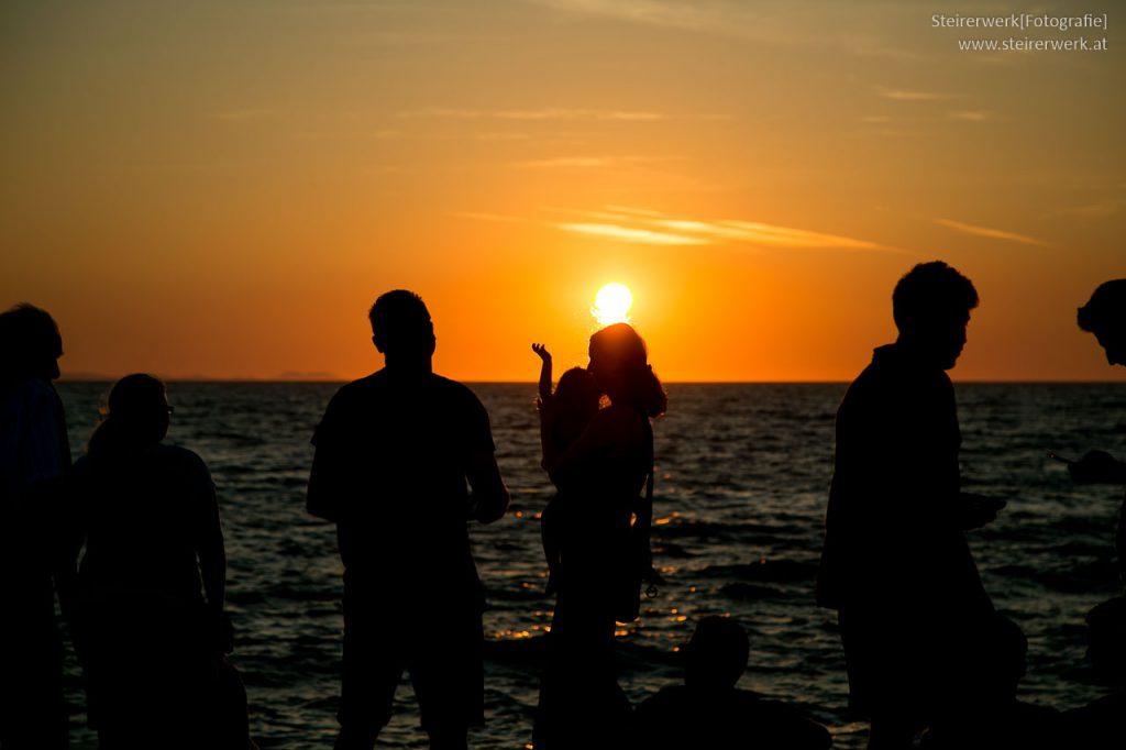 Zadar Sehenswürdigkeiten Sonnenuntergang