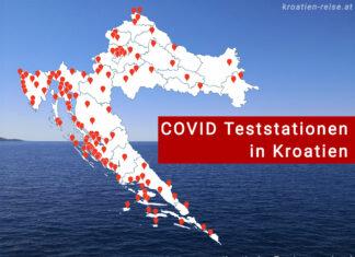 COVID Teststationen in Kroatien