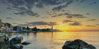 Sonnenuntergang über Porec